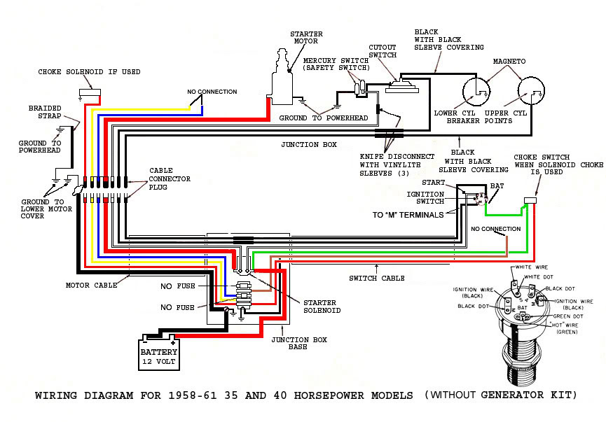1961 40hp Johnson Rds 23 Wiring, Mercury Outboard Wiring Diagram Ignition Switch
